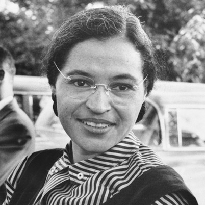 Rosa Parks resisted segregation in Montgomery, Alabama and sparked a civil rights revolution.
